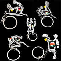 Lovers' Keychain Simulation Activity HAPPY MAN Metal Fashion Couple Keychain Charm Key Chain Good Appeal Gift For Friends