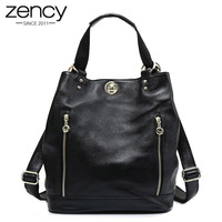 New Genuine Leather Elegant Women Backpack Lady Fashion Purse Multiple Carry Way Pack Lock Classic Shoulder
