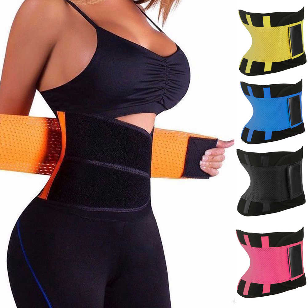Women Body Shapers Unisex Waist Cincher Trimmer Tummy Slimming Belt Latex Waist Trainer Woman Postpartum Corset Shaper