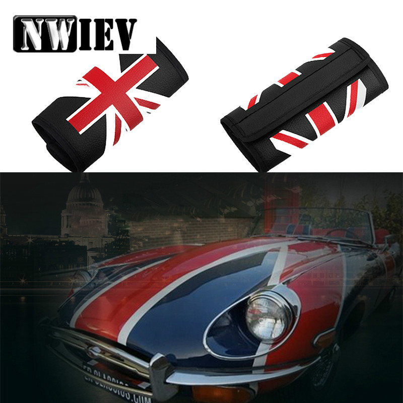 NWIEV Car Handbrake Cover Cases British Rice Pennant Leather Sets For VW Polo Golf 4 5 7 Passat B6 Hyundai Tucson Solaris Ix35