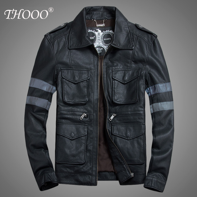 Free shipping ! men's brand turn-down collar PU motorcycle clothing  leather jacket short design plus size outerwear / M-5XL