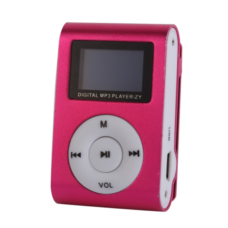 Stylish Design Sport Mini Mp3 USB Clip MP3 Player LCD Screen Support  SD TF Card Micro5 Colors
