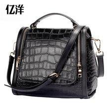 Women's bags fashion crocodile pattern fashion cowhide women's handbag female shoulder bag the trend women's handbag