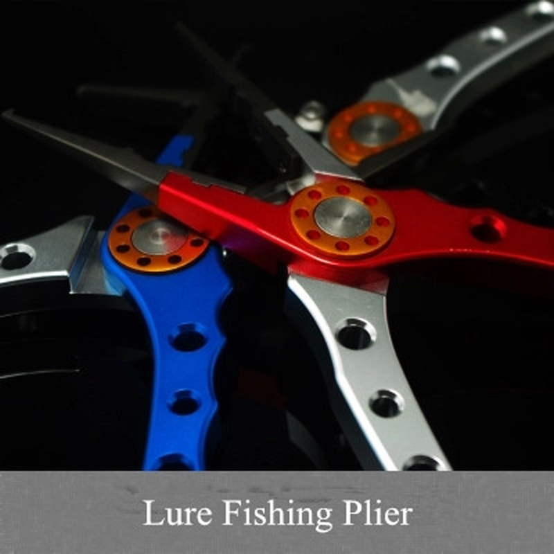 Quality Space Aluminium Fishing Lure Pliers Hook Pick Bait Change Plier Line Cut Pincers Tools
