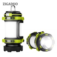 Portable LED Camping Lantern USB Rechargeable 2600mAh Power Bank Super Bright Flashlight Dimmable Spotlight Searchlight Outdoor