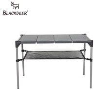BLACKDEER ультра светильник на открытом воздухе кемпинг стол алюминиевый сплав складной стол портативный Пикник Рыбалка Пивной Стол съемный