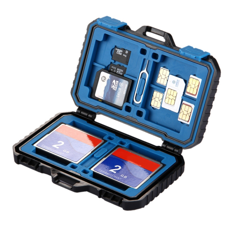 Memory Card Case With USB 3.0 Reader Waterproof 27 Slots SIM CF TF MSD Cards Case Storage Box SD/ SDHC/ SDXC/ Micro SD SDXC New