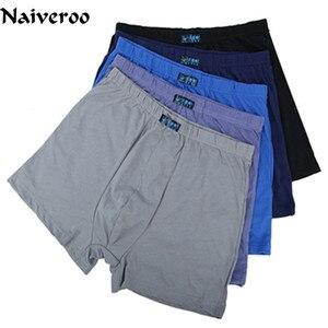 1PC Male Cotton Underwear Boxers High Waist Breathable Fat Belts Big Yards Men's Underwear Plus Size Random Color