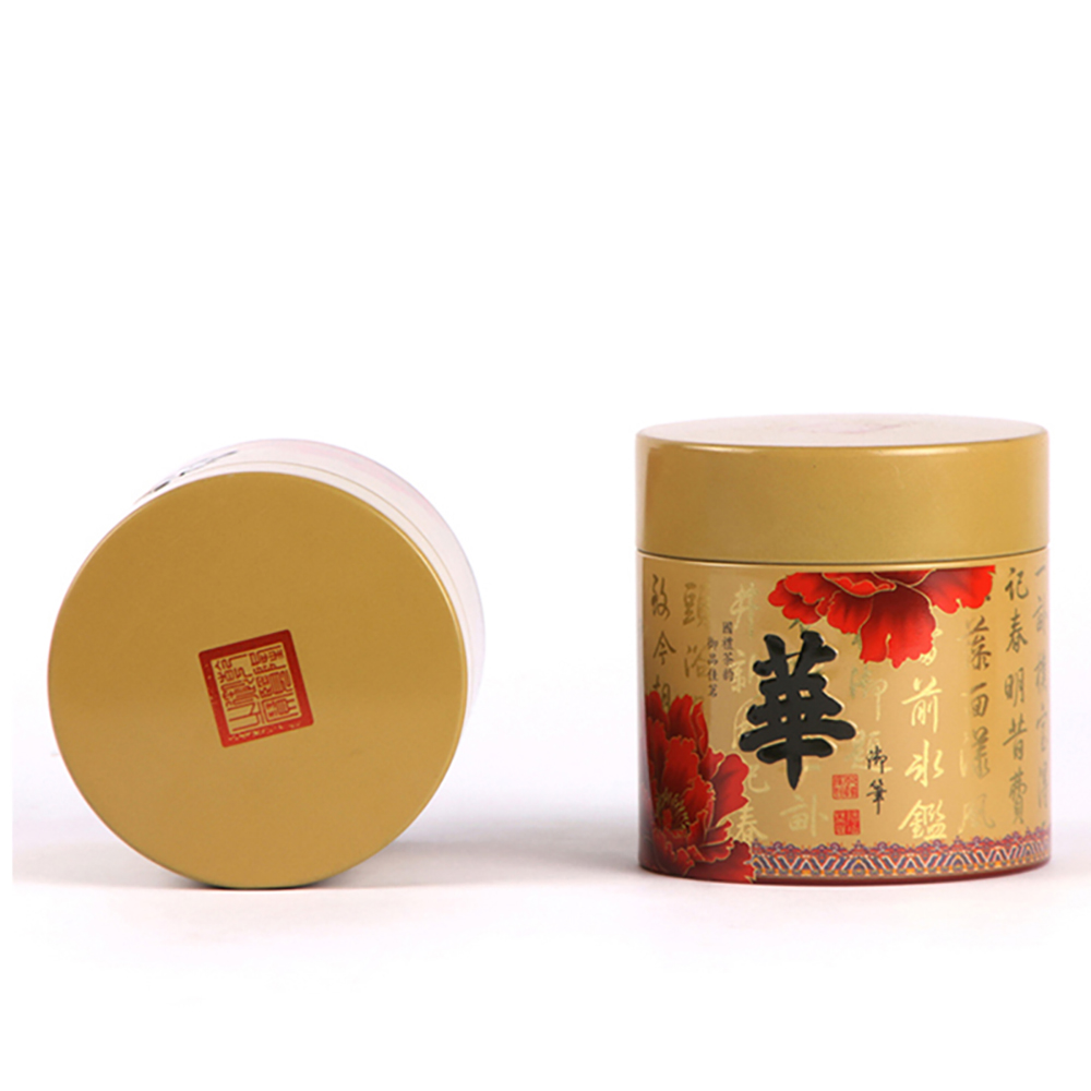 Xin Jia Yi Packaging Floral Pattern Chinese Style Tea Metal Box Round Wholesale Storage Tin Boxes For Travel Gift Coins Cans