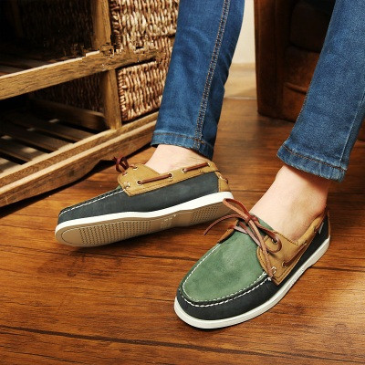 Online Shop 2017 British Style Fashion Men Boat Shoes Spring ...