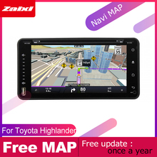 ZaiXi android car dvd gps multimedia player For Toyota Highlander Kluger 2000~2007 car dvd navigation radio video audio player liislee for toyota caldina t240 2002 2007 radio cd dvd player