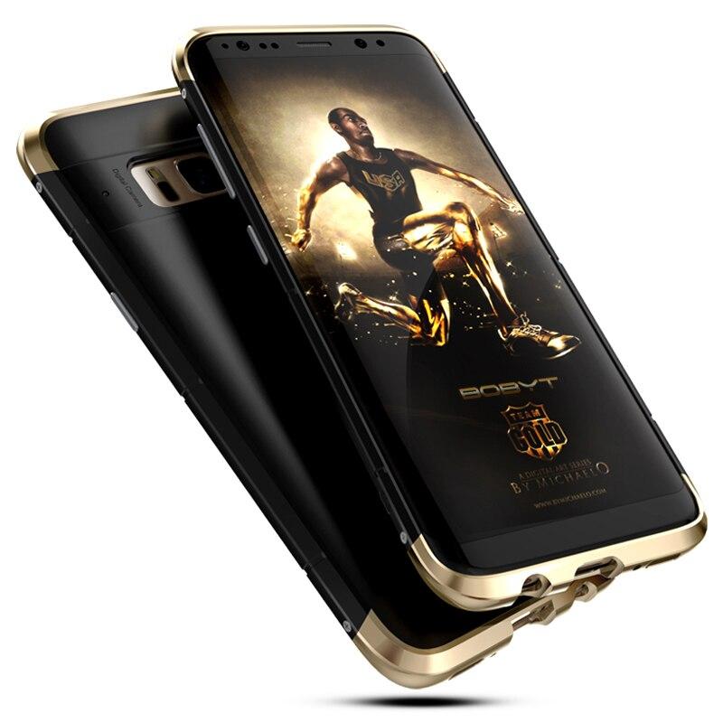 Lujo para Samsung Galaxy S8/S8 Plus Case 360 protección completa 3in1 aluminio Metal PC Hard híbrido Slim Back para Samsung S8