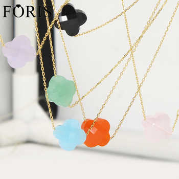 2017 Newest Four Leaf Clover Yellow Gold Crystal Necklace For Girlfriend Gift 19 Kinds Of Color - DISCOUNT ITEM  15% OFF All Category