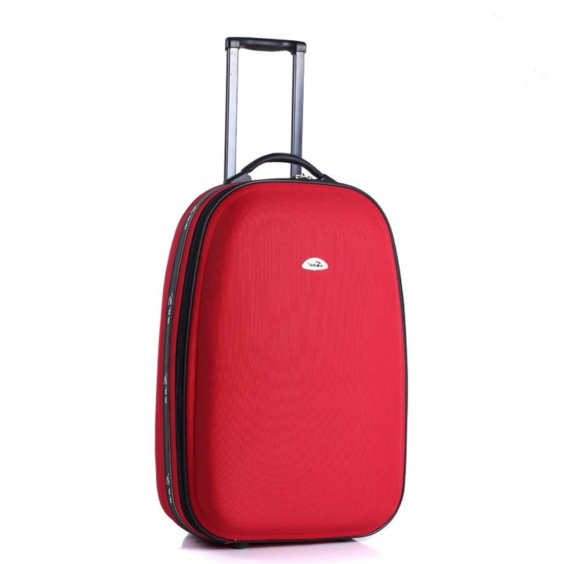 2016 New large capacity men trolley luggage trolley bag Festive red car Smith lever women directional