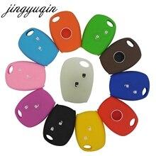Jingyuqin capa de silicone para chaves, para renault megane modus laguna duster logan dacia sandero fluence clio kango for nian almera opel