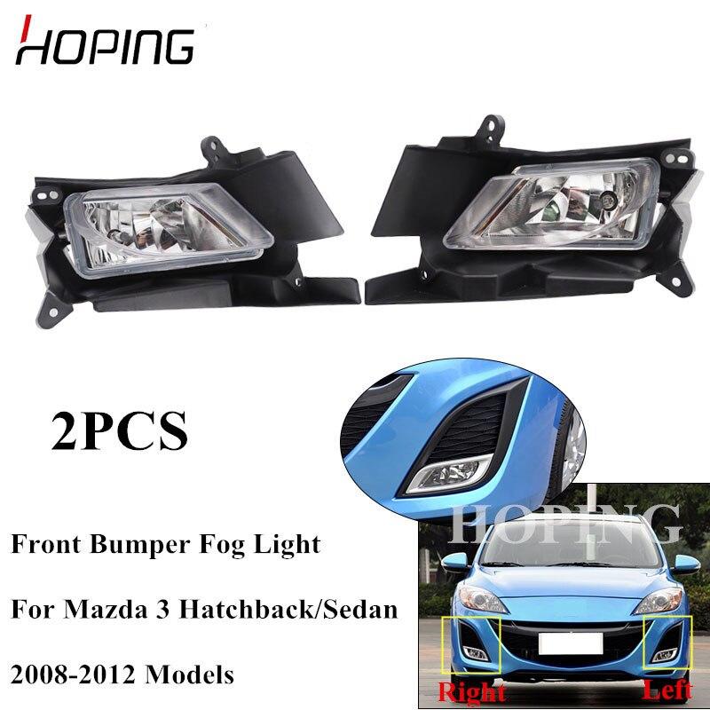 Hoping 2PCS Front Bumper Fog Light Foglight For Mazda 3 M3 2008 2009 2010 2011 2012