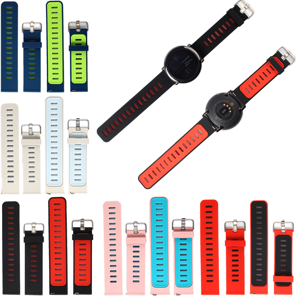 Replacement Silicone Watch Bands Bracelet Strap for Xiaomi Huami AMAZFIT Sports Smart Watch replacement silicone watch bands strap for garmin forerunner 235 630 230 gps watch