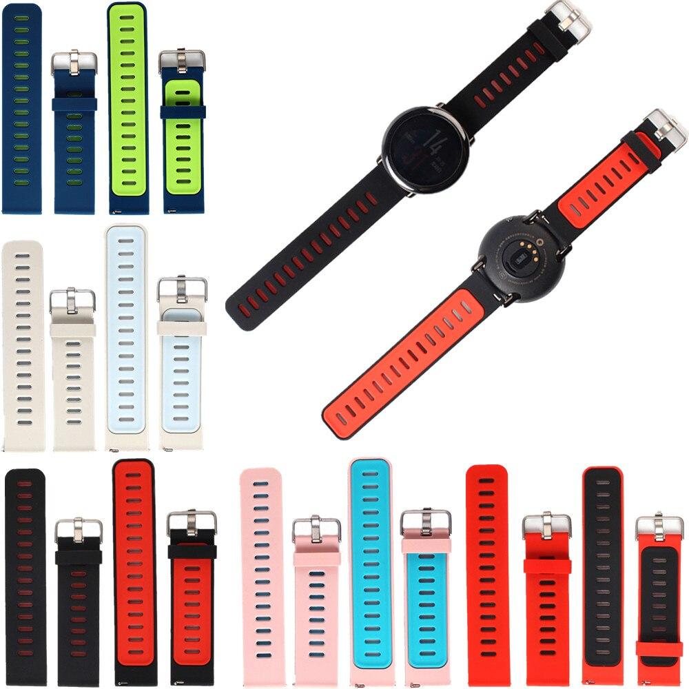 63808a58670 ... Faixas de Relógio Silicone para Xiaomi Substituição Pulseira Cinta de  Huami Amazfit Esportes Smart Relógio ...
