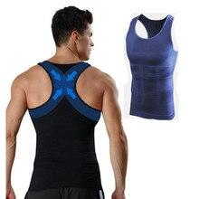8894b6ac30a43 Men Gynecomastia Vest Slimming Boobs Body Shaper Control Belly Tummy Trimmer  T-shirt Sleeveless Back