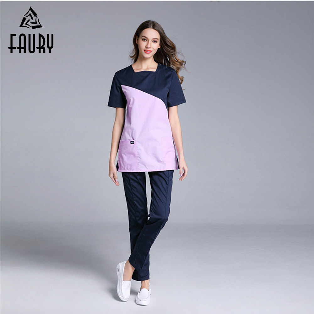 High Quality Nurses Doctors Uniforms Assorted Colors Surgical Medical Scrub Clothes Sets Hospital Beauty Work Wear Uniform
