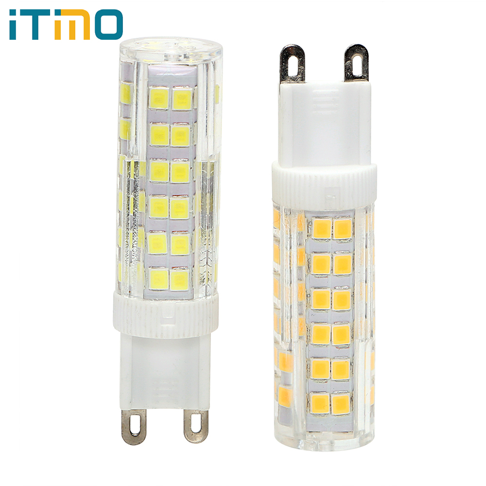 ITimo AC 220V SMD 2835 G9 LED Bulb Energy Saving Chandelier LED Light Replacement No Flicker High Brightness White/ Warm White