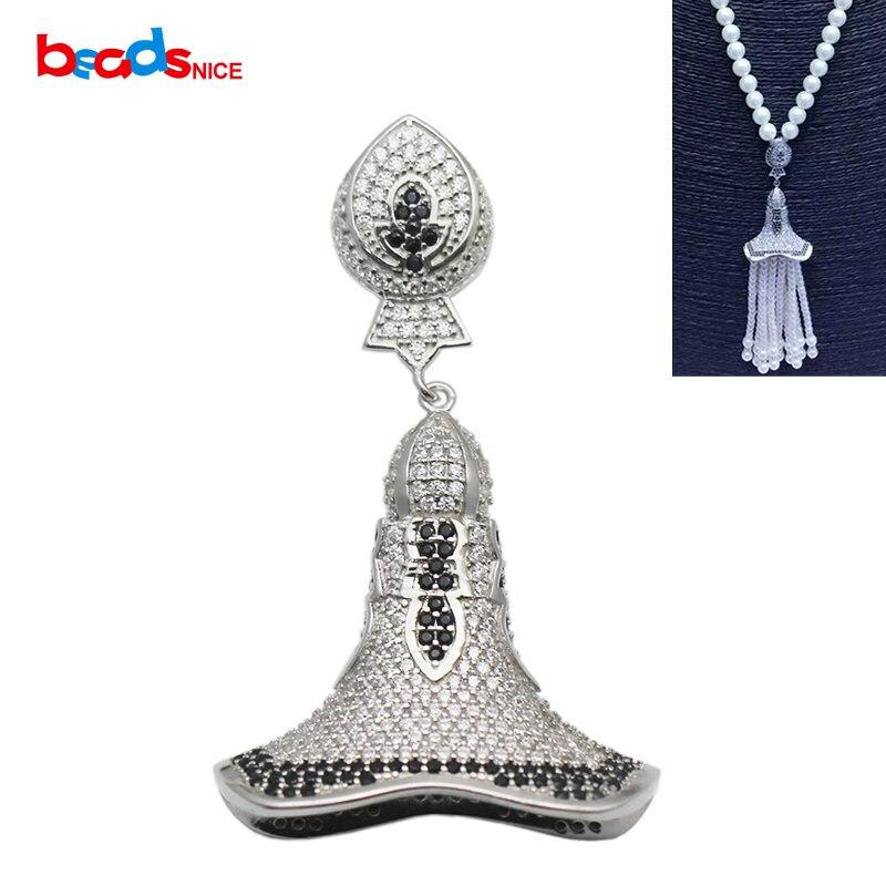 Beadsnice fait à la main collier pendentif connecteur en argent Sterling résultats de bijoux pour gland collier faisant ID 35295