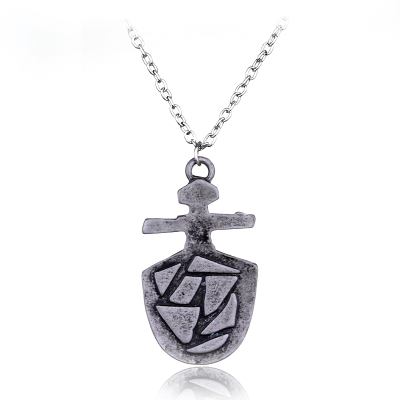 Wholesale Doctor Who Necklace Vintage Jewelry Cross Shield Pendant Chain Necklace Women Men Party Gifts