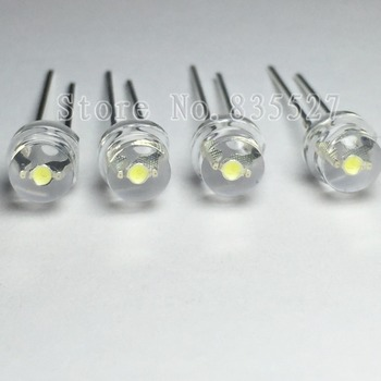 100pcs/lot 5MM F5 white 1600 - 2000MCD straw hat LED lamp beads super bright LED Light-emitting diodes (leds) for DIY lights