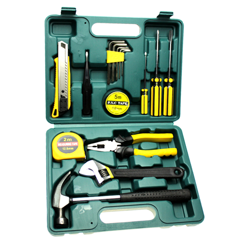 LHX BXY77 16Pcs Tool Kits Set Car Repair Kit Screwdriver Combination Digital Toolbox Hand  Household Hardware Tools Set 46pcs socket set 1 4 drive ratchet wrench spanner multifunctional combination household tool kit car repair tools set