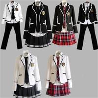 Girls boys Uniforms School Wind Student Long Sleeve Uniforms Uniforms Skirts Junior High School Girls boys Uniforms