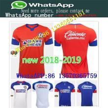 3a07286eb 2018 2019 Mexico club Liga MX CDSC Cruz Azul Soccer jersey home blue away  white 3rd orange football shirt camisetas de futbol