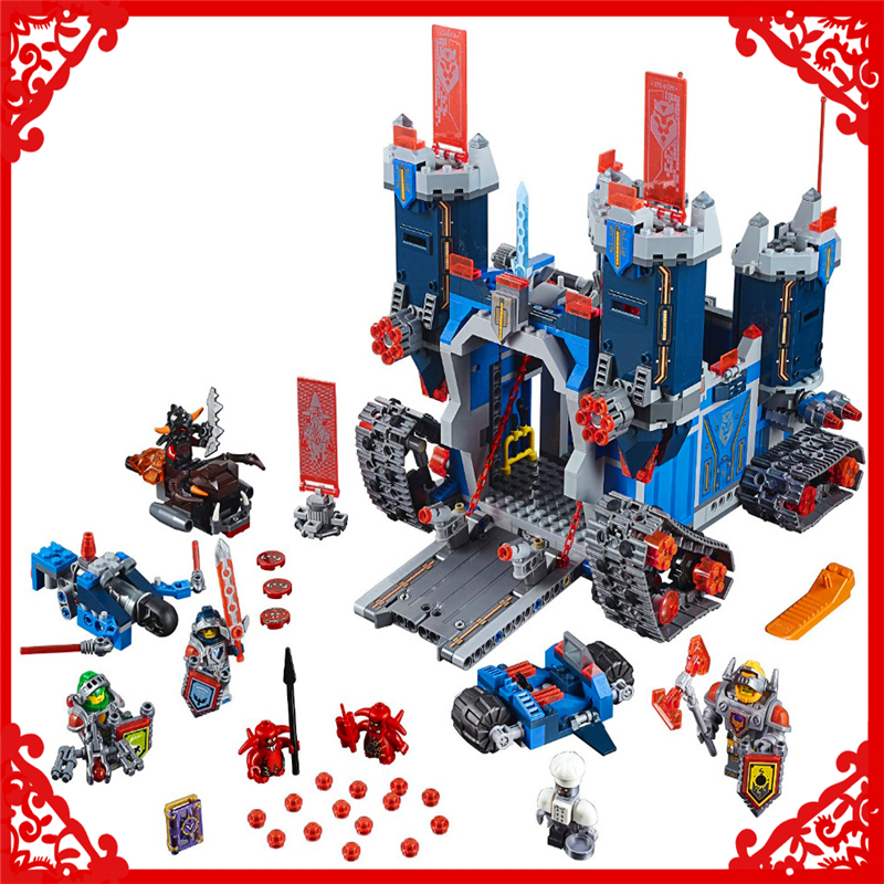 1115Pcs Nexo Knights Axl The Fortrex Model Building Block Toys LEPIN 14006 DIY Educational Gift For Children Compatible Legoe lepin nexo knights axl general magmars siege machine of doom model building blocks diy figure toys for children compatible legoe
