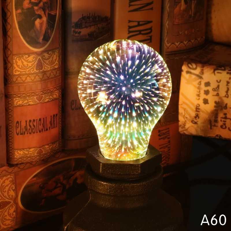 LATTUSO светодиодный светильник с лампой Эдисона 3D лампы светодиодные украшения 220V A60 ST64 G95 G80 G125 E27 праздничный светильник s Новинка Рождество светодиодные лампы Lamparas