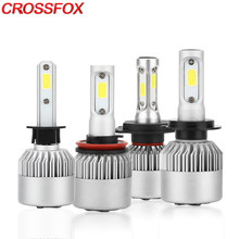 CROSSFOX LED Lamp 9004 9007 H13 Hi/Lo H1 H3 H11 880 5202 9005 HB3 9006 HB4 H7 H4 LED Headlight Bulb Car Auto Light 6000K 12V(China)