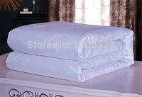 220*240cm 100% Mulberry Silk Blanket Winter Silk Quilt Pink White Silk Comforter Brands silk Blanket Winter edredon King Bedding