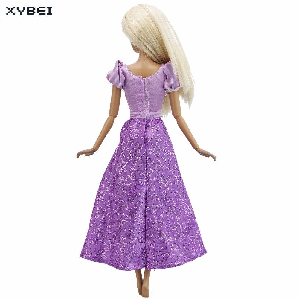 Cuento de hadas copia princesa Rapunzel vestido de boda púrpura ...