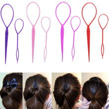 1 set tail maker plastic loops Magic Styling tools black pony Tail clip hair braid Maker styling tools Fashion Hair Accessories