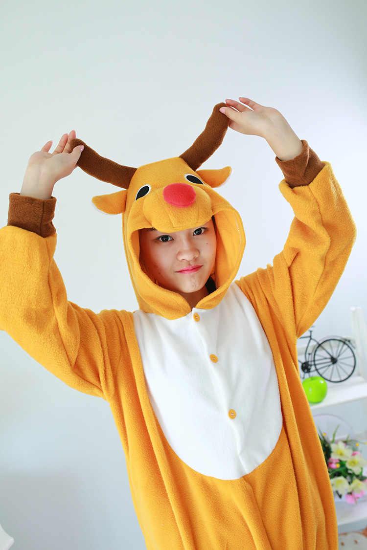 ec8483ba52 ... Kigurumi Adult Onesie Unisex Sleepwear Animal Costume Christmas Deer  Onesies Pajamas Pyjamas Jumpsuit Carnival Costumes ...