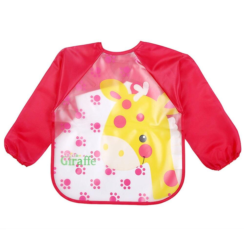 Cartoon EVA Plastic Drawing Eating Feeding Burp Cloths Waterproof Baby Bib Apron