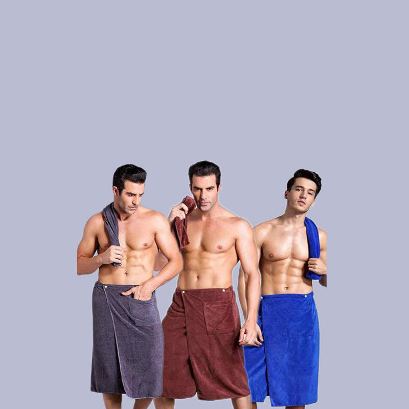Men's Bath Towel with Pocket