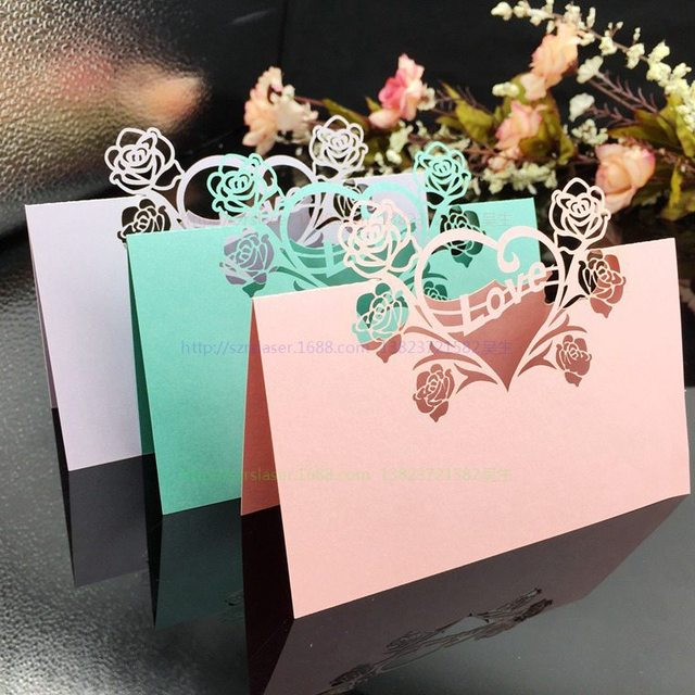 Wedding Table Card Laser Cut Seat Cards Name Celebration Birthday Party Decoration