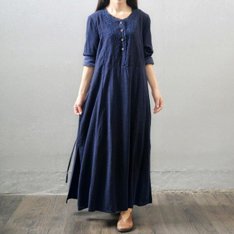2018 Maternity Clothing Casual Loose Maxi Long Dress Pregnant Women High Waist Long Sleeve Pregnancy Vintage Vestidos Plus Size