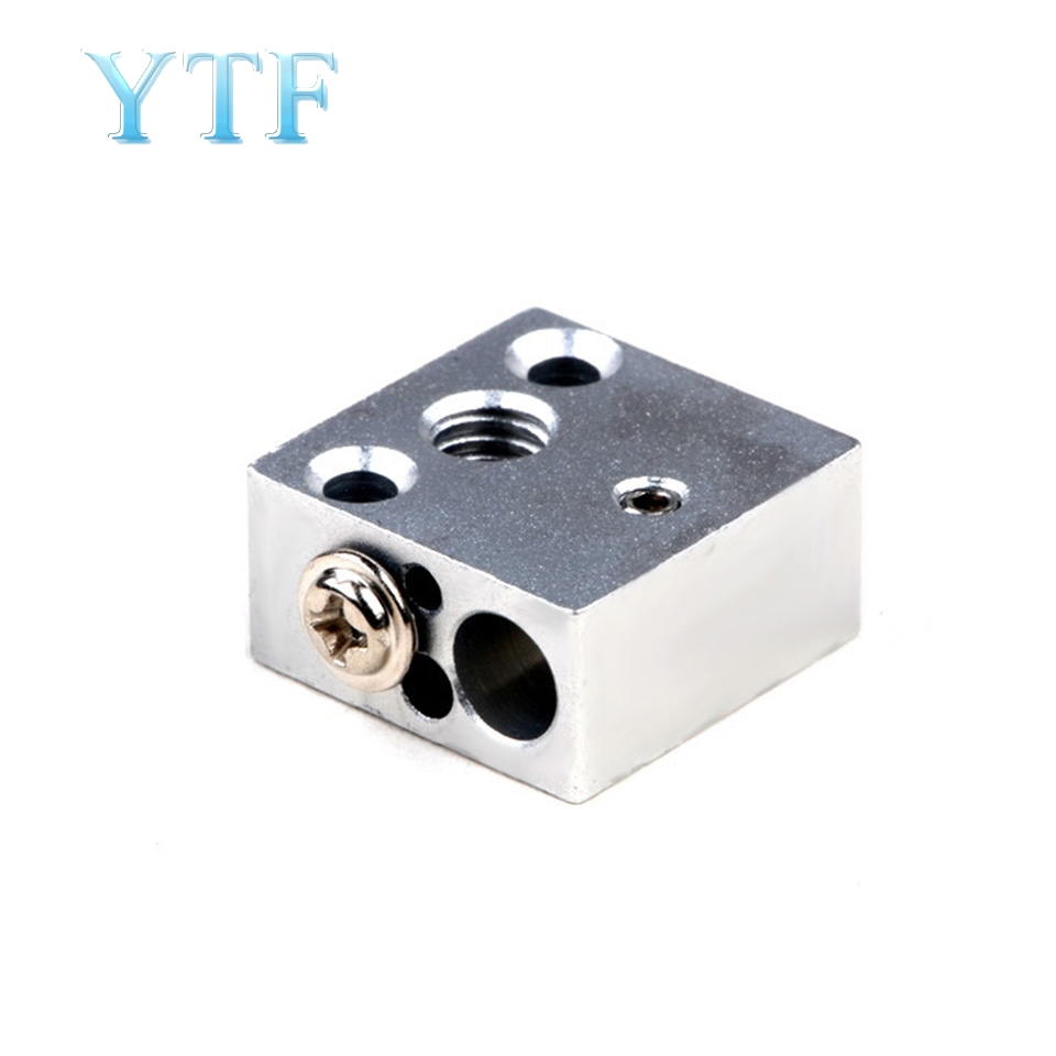 3D Printer Parts CR-10 Heater Block J-head Extruder HotEnd CR10 All-Metal Aluminium Print Head 20x20x10 20*20*10mm