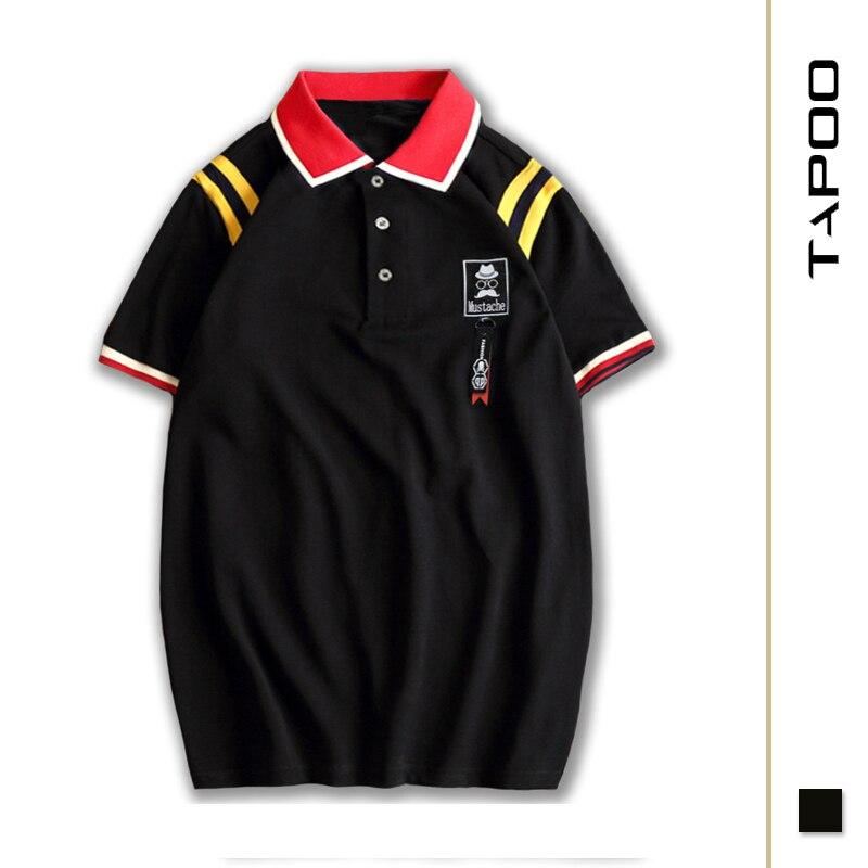 2XL-8XL Men's Large Size Loose   POLO   Shirt Lapel Stripe Short Sleeve Top Breathable Cotton Extra Large Size Men's   POLO   Shirt