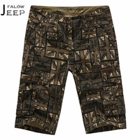 Falow AFS JEEP Summer Multi Pockets Cotton Shorts UK Flag Male S Military Loose Breathe Cardigan