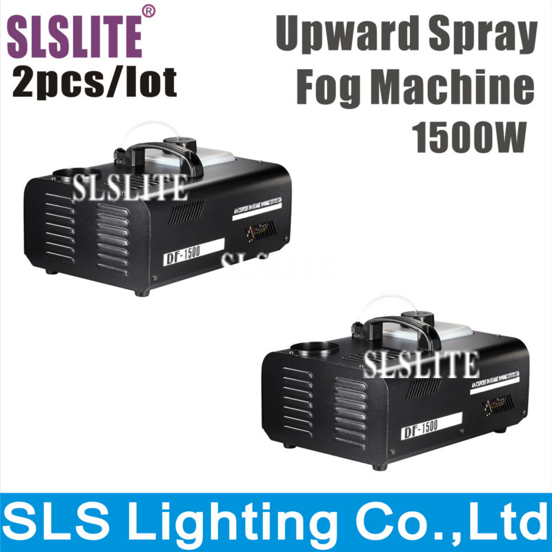 SLS 2PCS/LOT 2pcs/lot 1500W Up dj Smoke Machine DMX 512+Remote Control Spray Up Fogger Mini Fog Machine Vertical Smoke Machine