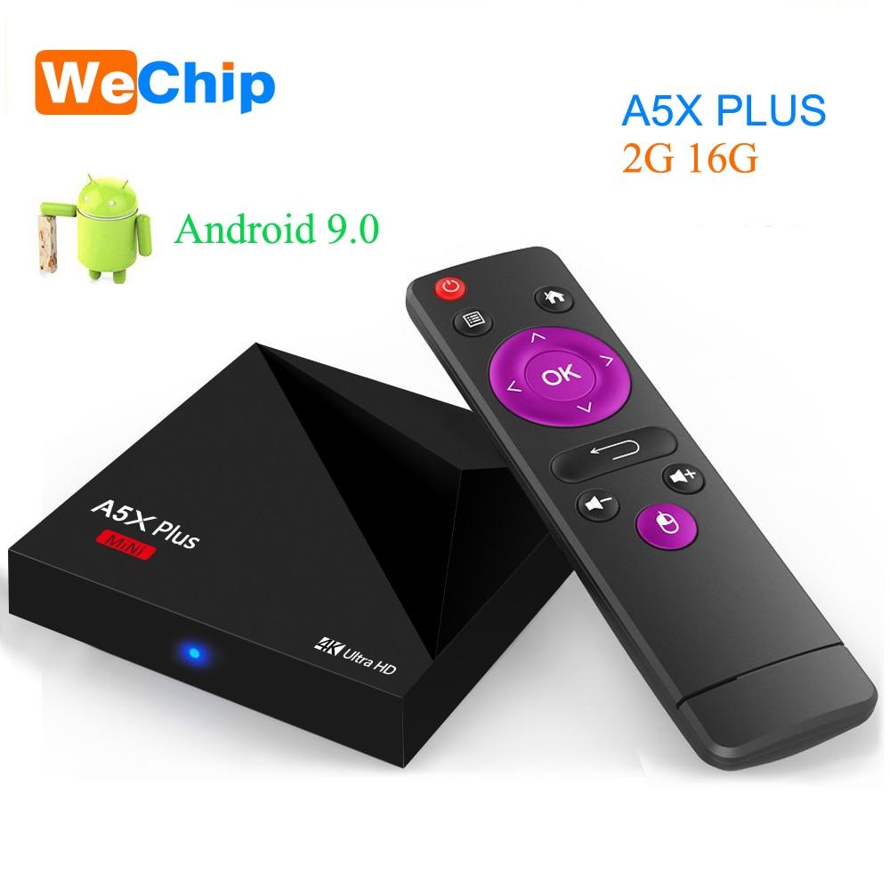 Wechip A5X Plus mini Smart TV BOX Android 9.0 2GB 16GB RK3328 Rockchip 2.4G WIFI 100M LAN HD 2.0 Set Top box 4K HD Media PlayerWechip A5X Plus mini Smart TV BOX Android 9.0 2GB 16GB RK3328 Rockchip 2.4G WIFI 100M LAN HD 2.0 Set Top box 4K HD Media Player