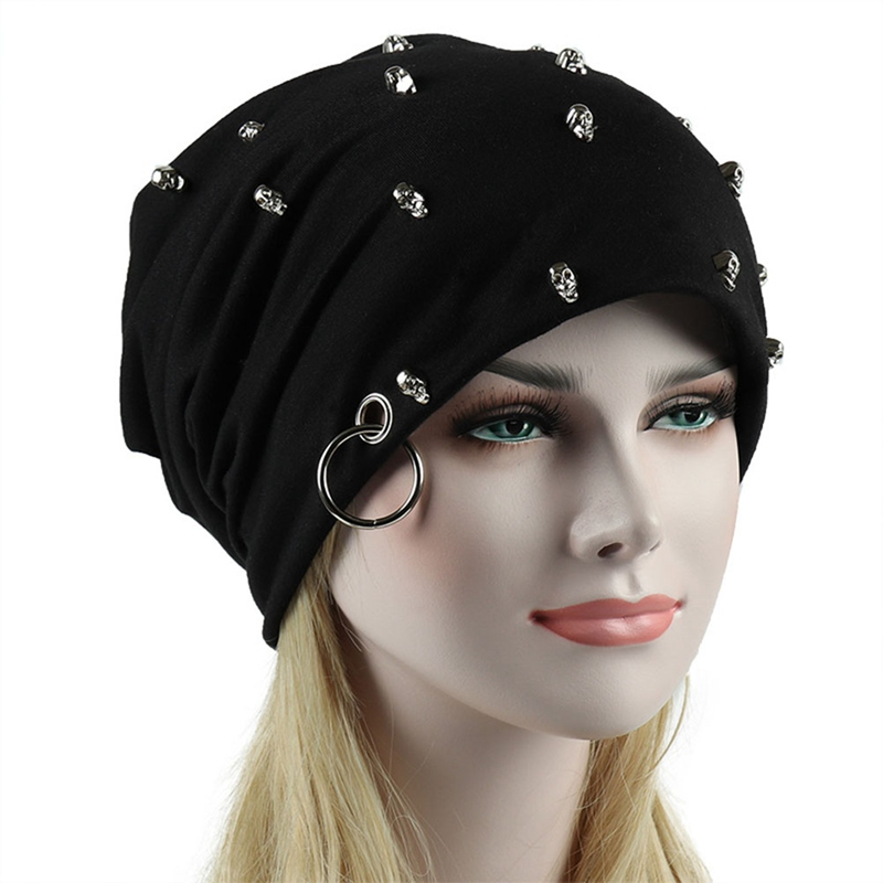 2019 New Fashion Men Women Unisex Casual Hat With Skull Hoop Brand Caps Winter Warm Beanies Thick Adult Hip Hop Bonnet Hats