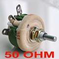 25 Вт 50 Ом высокомощный потенциометр с проволочной обмоткой, реstat, переменный резистор, 25 Вт.