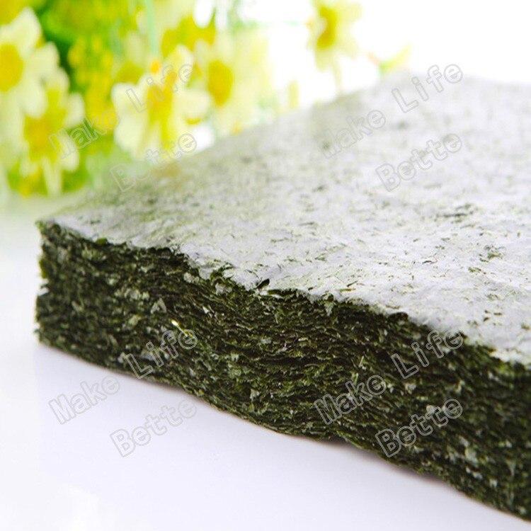 100 шт. Nori морские водоросли для суши + бесплатный инструмент, сушеные водоросли Nori для суши, оптовая продажа, высококачественные водоросли нори-2